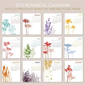 Calendar 2010 Botanical